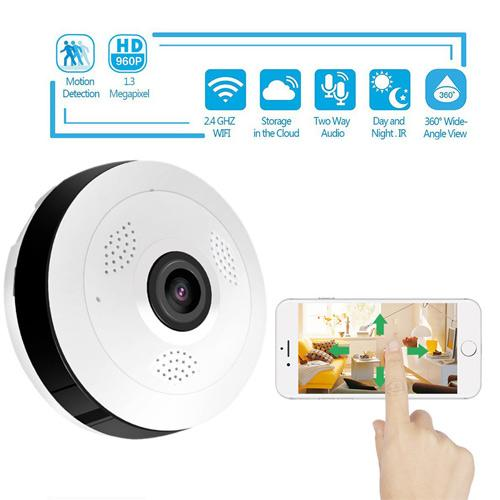 360 Degree Panoramic Smart Home Camera