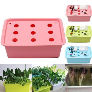 9 Holes Indoor Garden Cabinet Box Grow Kit Garden Pots Planters