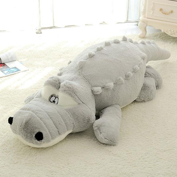 Comfy Oversized Cute Crocodile Lying Section Plush Toy Pillow Mat