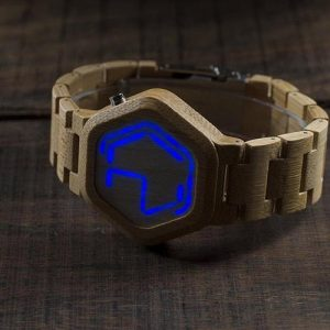 Digital Bamboo LED Night Vision Watch