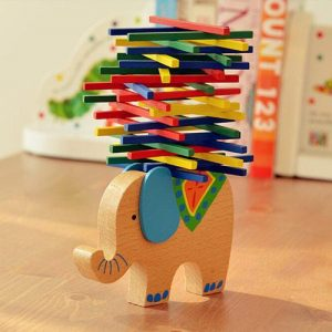 Elephant Balancing Wooden Toy