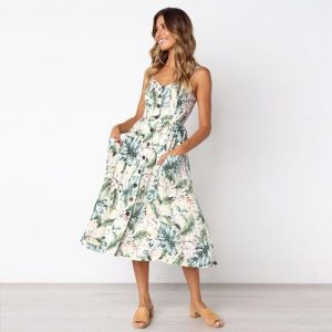 Floral Long Bohemian Beach Summer Dress