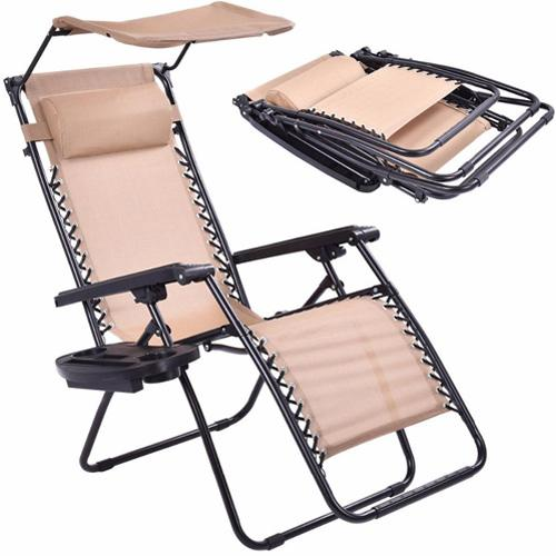 Folding Recliner Zero Gravity Lounge Chair