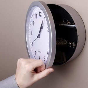 Hidden Secret Wall Clock Safe Stuff Storage