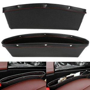 Leather Car Seat Side Pocket