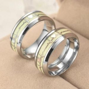 Luminous Heartbeat Stainless Steel Ring