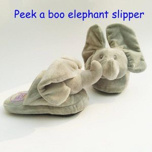 Peek-a-Boo Elephant Plush Slipper