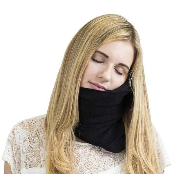 Super Soft Neck Support Travel Pillow black
