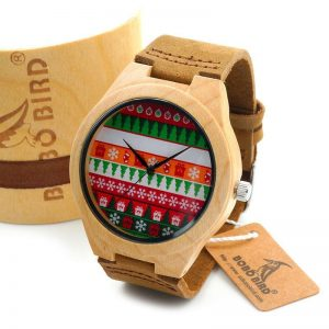 Maple Wood Christmas Wrist Watch