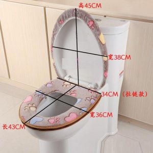 Thick Coral Velvet Luxury Toilet Seat Cover