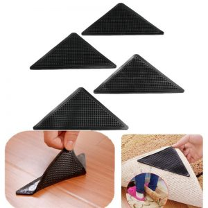 4 Pcs Reusable Rug Carpet Grippers