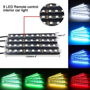 7 Color LED Car Interior Lighting Kit
