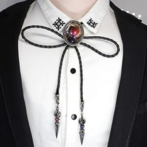 Bolo Tie Nebula Galaxy Necklace Antique