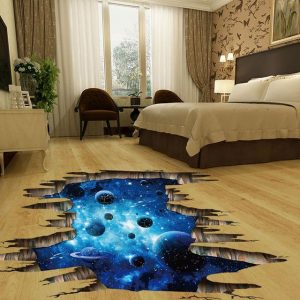 3D Cosmic Galaxy Space Bedroom Wall Stickers