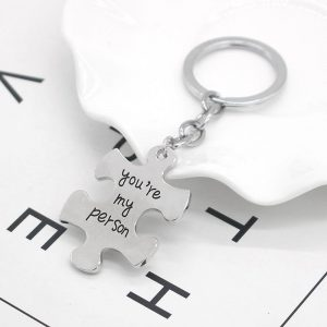 2 Pcs You're My Person Couple Keychain