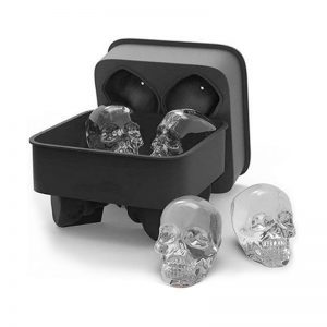 3D Skull Ice Cube Mold Maker